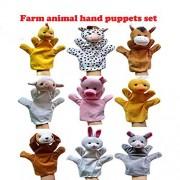 Educational Wholesale Farm Animals Hand Puppets Hand Glove Puppets (9 pcs)