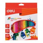 Creioane colorate 24 culori Emotion Deli