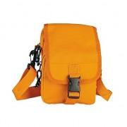 Merkloos Oranje schoudertasje van polyester 18 cm