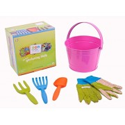 Twigz My First Gardening Tools Box Set - Pink Bucket