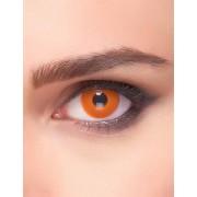 Vegaoo Feurige Kontaktlinsen Halloween und Karneval orange