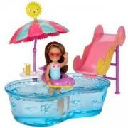 Барби игрален комплект - Мини кукла с басейн, Barbie, 1710045-2