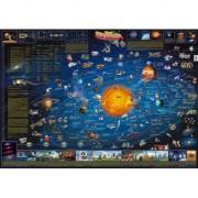 Merkloos Decoratie poster van het zonnestelsel voor kinderen