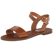 Steve Madden Women's Donddi Dress Sandal, Tan Leather, 8. 5 M US