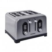 Prajitor de paine Heinner HTP-BK1400XMC, 1400-1600W, 4 felii, 6 setari, Inox