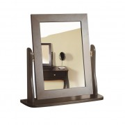 Baroque 1 Drawer Dressing Table (Available in White, Dark Coffee & Grey) - Table, Stool & Mirror (Coffee)