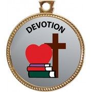 Devotion Award, 1 inch dia Gold Medal 'Character Studies Collection' by Keepsake Awards