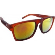 ELS Rectangular Sunglasses(Red, Yellow)