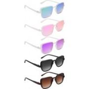 NuVew Wayfarer Sunglasses(Black, Brown, Green, Blue, Pink, Violet)
