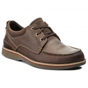 Обувки CLARKS - Katchur Edge 261278347 Dark Brown Nubuck