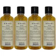 Khadi Herbal Honey Lemon Juice Shampoo - 210ml (Set of 4)