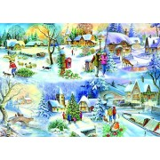 The House Of Puzzles Snowy Afternoon Big 500 Piece Jigsaw Puzzle