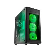 RaidMax Caja Gaming ALPHA PRIME A15TTB NEGRO ATX, Cristal templado lateral y frontal, 3x 120mm LED RGB frontal, 1x trasero, 2x USB 3.0