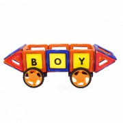Bloques magneticos de 72 piezas juguete educativo para ninos - Multi-Color