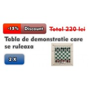 2 X Tabla de demonstratie care se ruleaza