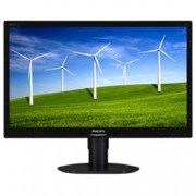 PHILIPS 24 LED WIDE 1920X1080 5MS DVI MULT PIVOT VGA BLACK