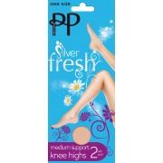 Pretty Polly - Silver Fresh medium support knee highs