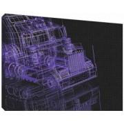 Camion 3D 2 - Tablou canvas - 52x70 cm