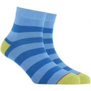 Soxytoes Nice Nice Babies Blue Cotton Ankle Length Pack of 1 Pair Striped Unisex Casual Socks (STS0007G)