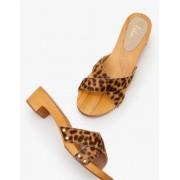 Boden Leopard Orella Clogs Damen Boden, 40, Brown