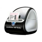 Dymo LabelWriter 450 Turbo - Etiketprinter - thermisch papier - Rol (6,2 cm) - 600 x 300 dpi - tot 71 etiketten/minuut - USB