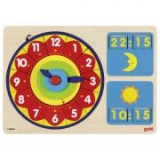 Ceas puzzle Analog Digital, 85 piese, 30 x 21 cm
