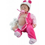 55 Cm Soft Silicone Reborn Babies Alive Babies Dolls Lifelike Sleep Reborn Dolls For Kids Toy