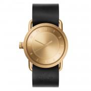 TID Watches-No.1 Armbandsur 36 mm, Guld/Svart Läderarmband