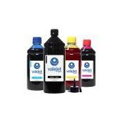 Kit 4 Tintas para Bulk Ink Epson 194 Black 1 Litro Coloridas 500ml Valejet