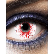 Vegaoo Blodigt öga kontaktlinser vuxen Halloween One-size
