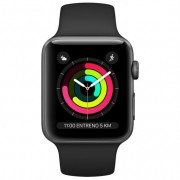 Apple Watch Series 3 GPS 42mm Aluminio Gris Espacial Con Correa Deportiva Negra