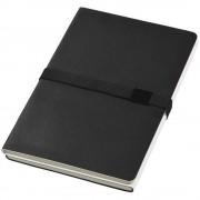 Carnetel A5 cu coperta moale, 2x64 pagini cu liniatura, Everestus, DO, thermo pu, negru, alb, lupa de citit inclusa