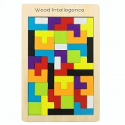 Tetris Game style Wooden Building children's educational toys wooden educational jigsaw puzzle toys puzzles gift
