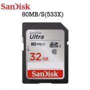 Tarjeta de memoria Sandisk ultra 32 GB SDHC 80MB / S (SDSDUNC-032G-ZN6IN)