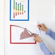 Rama magnetica pentru afisare, format A4, rosie