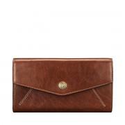 Maxwell-Scott große Damen Leder Geldbörse mit Bügelverschluss in Hellbraun - Marcialla - Brieftasche, Portemonnaie, Geldbeutel, Kreditkartenetui
