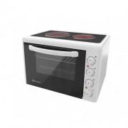 Малка готварска печка Eldom 201VFE, 3300 W, стъклокерамичен плот, 38 л., бяла