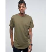 Only Удлиненная футболка с асимметричным краем Only & Sons - Зеленый