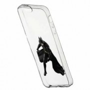 Husa Silicon Transparent Slim Batman 132 Apple iPhone 5 5S SE