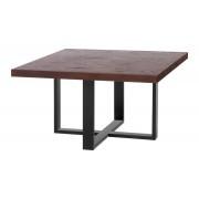 Kapelańczyk Stolik kwadratowy do salonu - blat z naturalnej drewnianej okleiny - Kapelańczyk