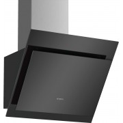 Hota Bosch DWK67CM60, Decorativa perete, 700 m³/h (Intensiv), TouchControl, 3 viteze + Intensiv, RimVentilation (absorbtie periferica), Filtru metalic, 60 cm, Sticla neagra
