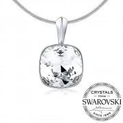 Silvego SILVEGO stříbrný přívěsek se Swarovski(R) Crystals SQUARE 12mm - VSW047p