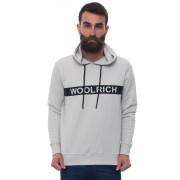 Woolrich Felpa con cappuccio WOFEL1168 Grigio chiaro Cotone Uomo