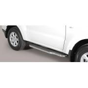 MARCHE PIEDS INOX D.50 MITSUBISHI PAJERO 2015- 3 portes - accessoires 4x4 MISUTONIDA
