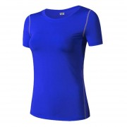 Mujeres Yoga Tops Aptitud T Camisa Deportes Correr Cuerpo Shaper