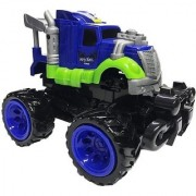 Emob Super Power Transformation Wind Speed Bounce Open Stunt Robot Car Gift Toy with Door Opening (Blue)