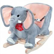 Słoń Na Biegunach Bujak Kołyska Pas Bezpieczeństwa
