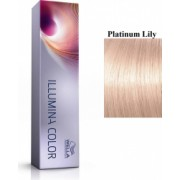 Wella Professionals Vopsea permanenta Wella Professionals Illumina Color Platinum Lily Blond Platina Roz 60ml