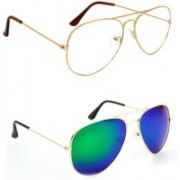 Sulit Aviator, Wayfarer, Cat-eye Sunglasses(Clear, Green)