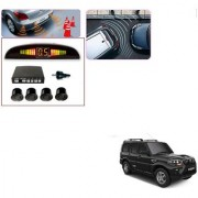 Auto Addict Car Black Reverse Parking Sensor With LED Display For Mahindra New Scorpio